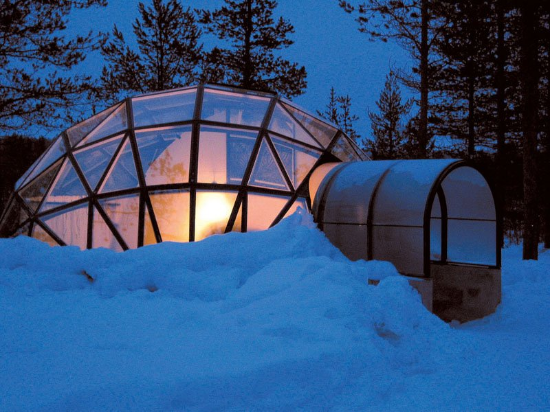 Igloo Village Exterior Snow