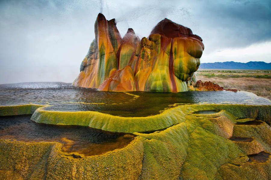 Unbelievable Places Fly Geyser Green Platform