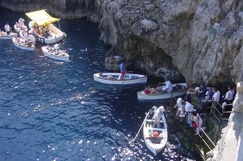 Boats Entering Grotto