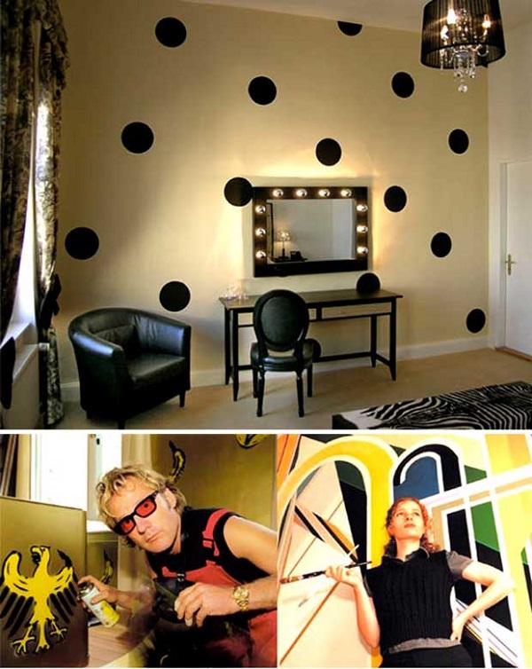 Polka Dot Room in Coolest Hotel Arte Luise Kunsthotel
