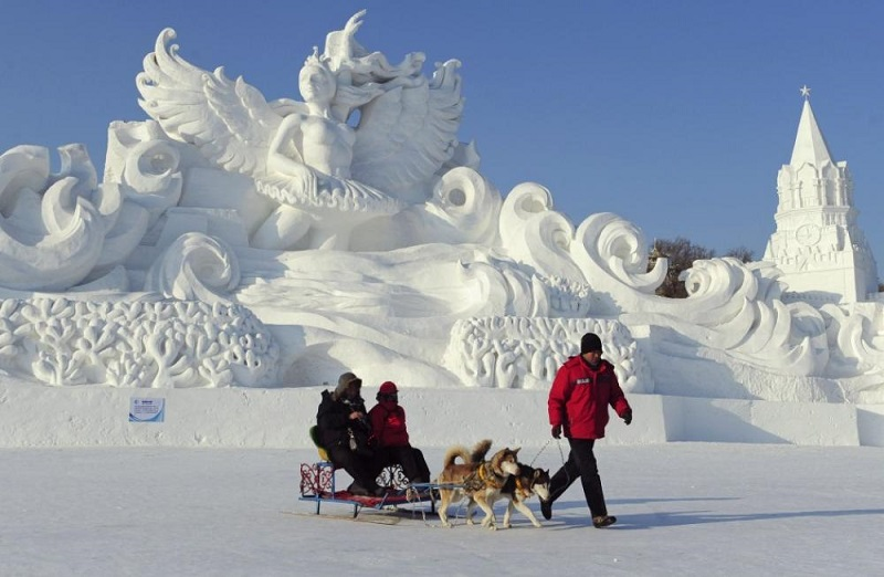 Beautiful Ice Sculptures in Harbin, China