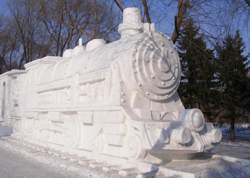 Train Ice Sculptures