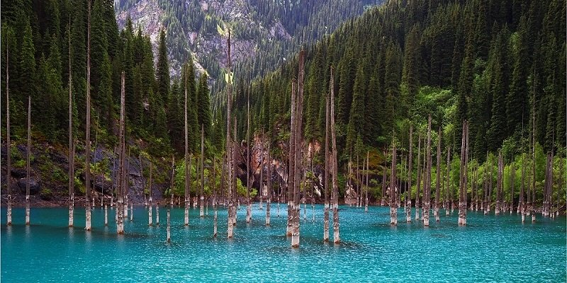 Blue Water from Lake Kaindy