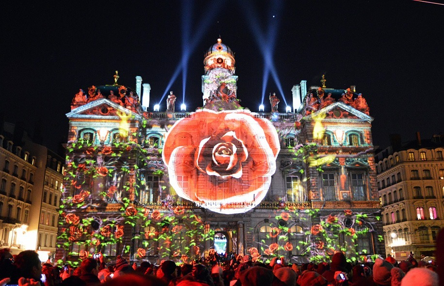 Lyon Light Festival Rose