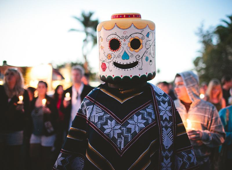 Lego Costume At Day Of The Dead