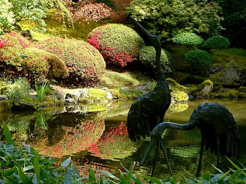 Bird Decorations in the Garden