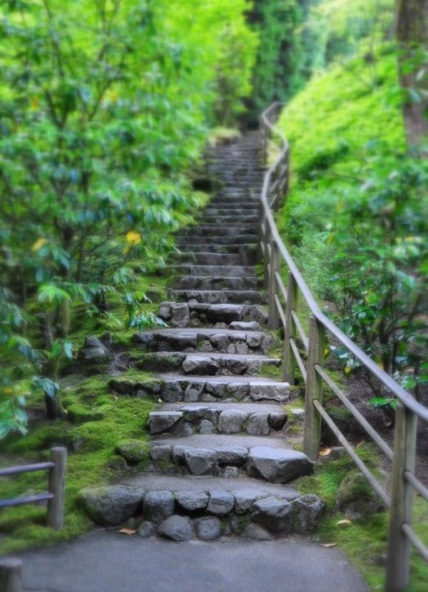 Japanese Garden Stairway