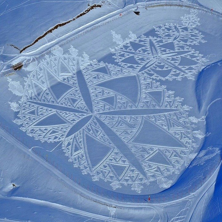 Snow Patterns Aerial