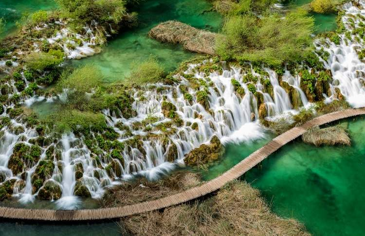 Plitvice Falls In Eastern Europe