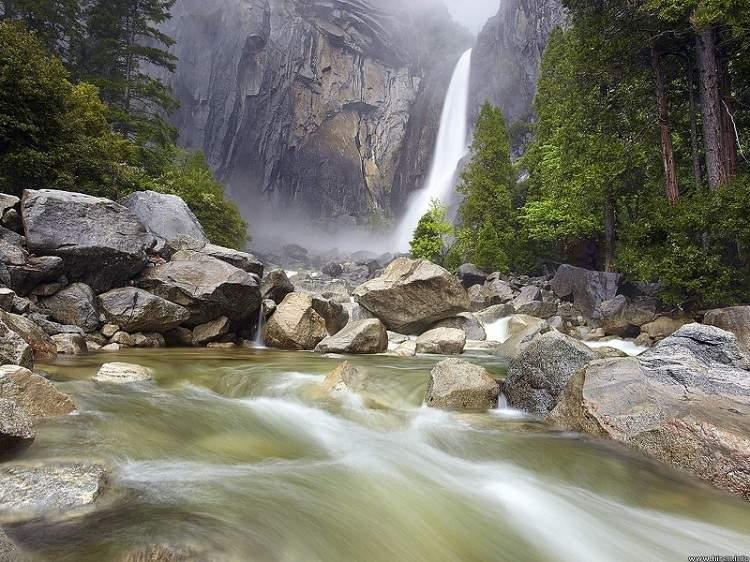 Stream Going Into Yosemite Falls