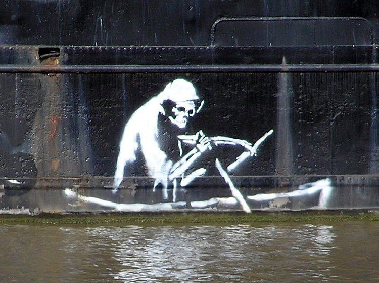 Street Artists Banksy Death Boat
