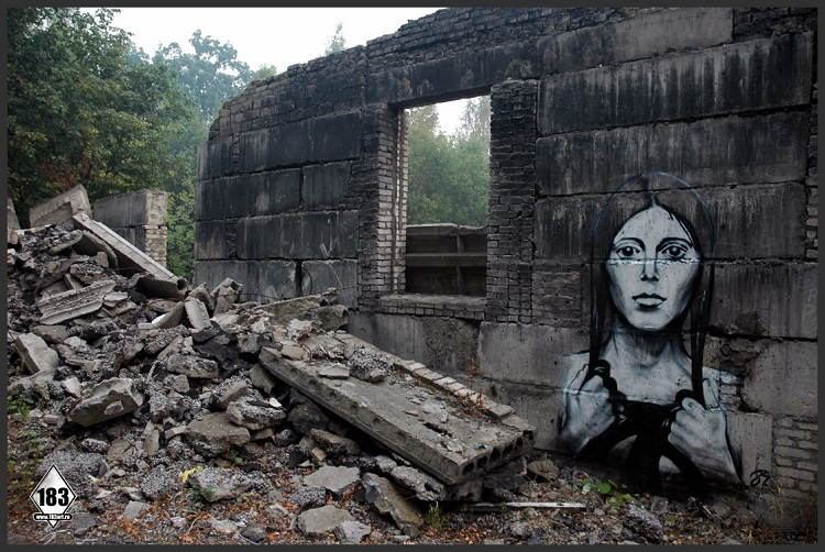 Street Artists Pavel Crumbling Wall