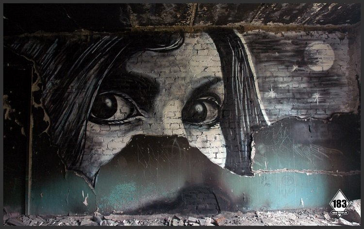 Street Art Girl Face