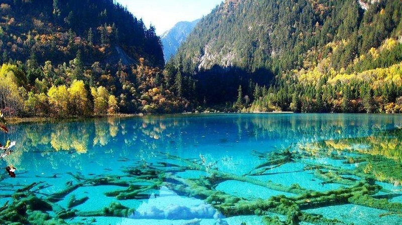 Jiuzhaigou Valley in China