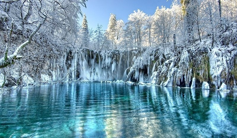Сюрреалистических мест и озер из Хорватии
