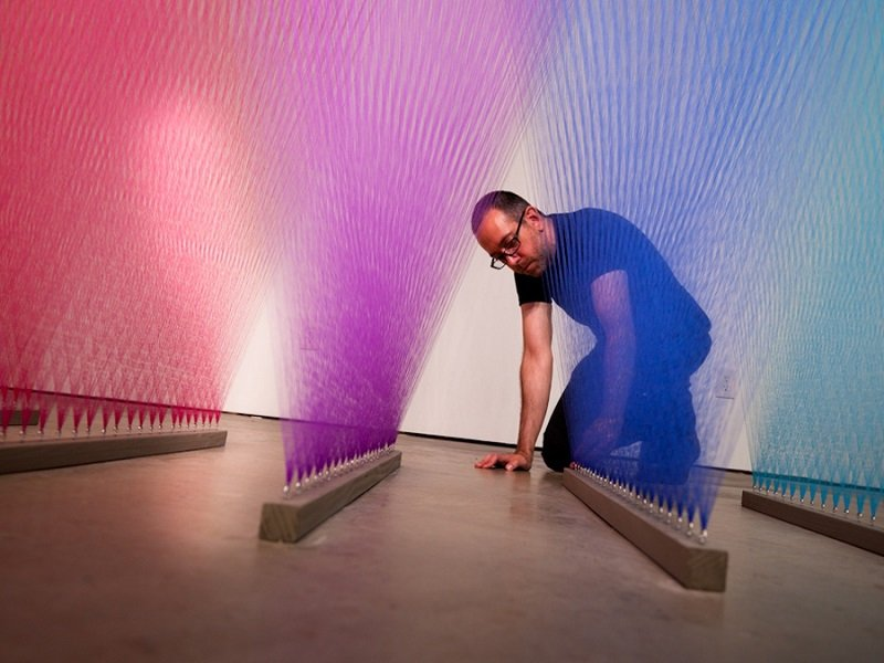 Gabriel Dawe Working on Thread Installations