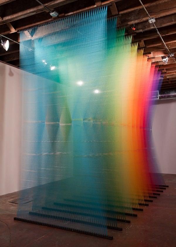 Gabriel Dawe's Rainbow Thread Installations