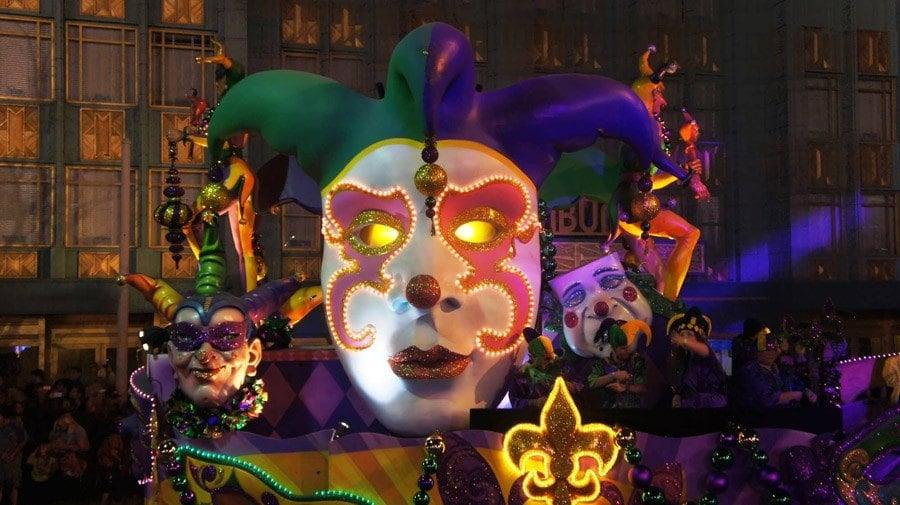 Mardi Gras Jester Float