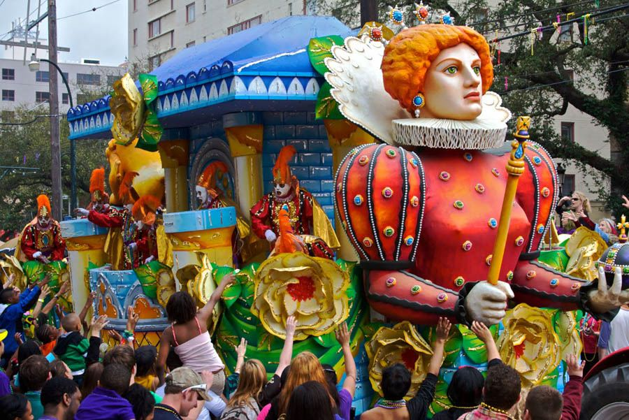 Mardi Gras Queen Float