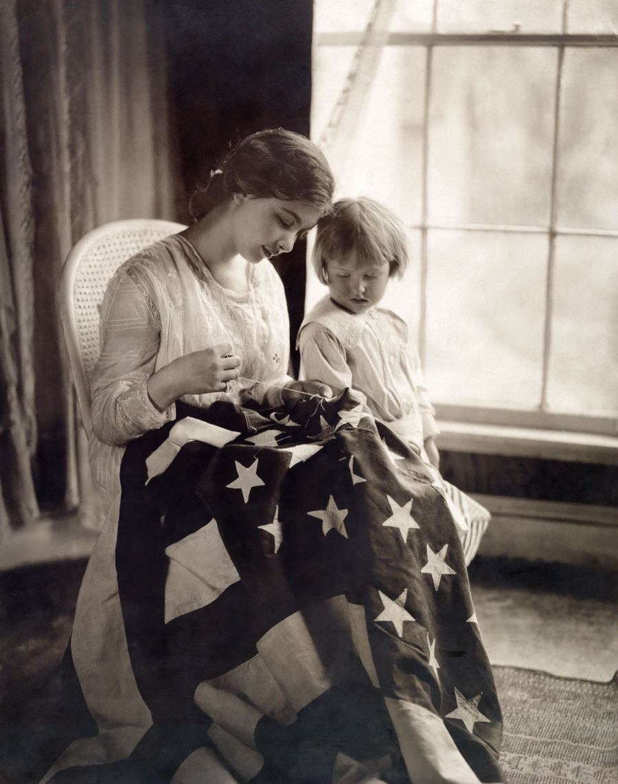National Geographic Photos Flag Sewing