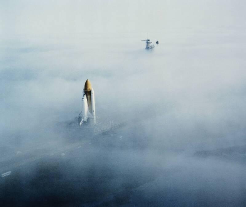 Challenger Among Mist