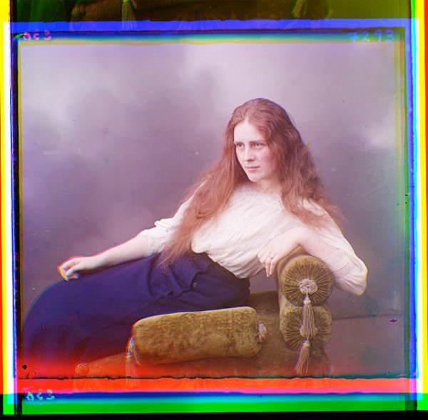 Color Russia Woman