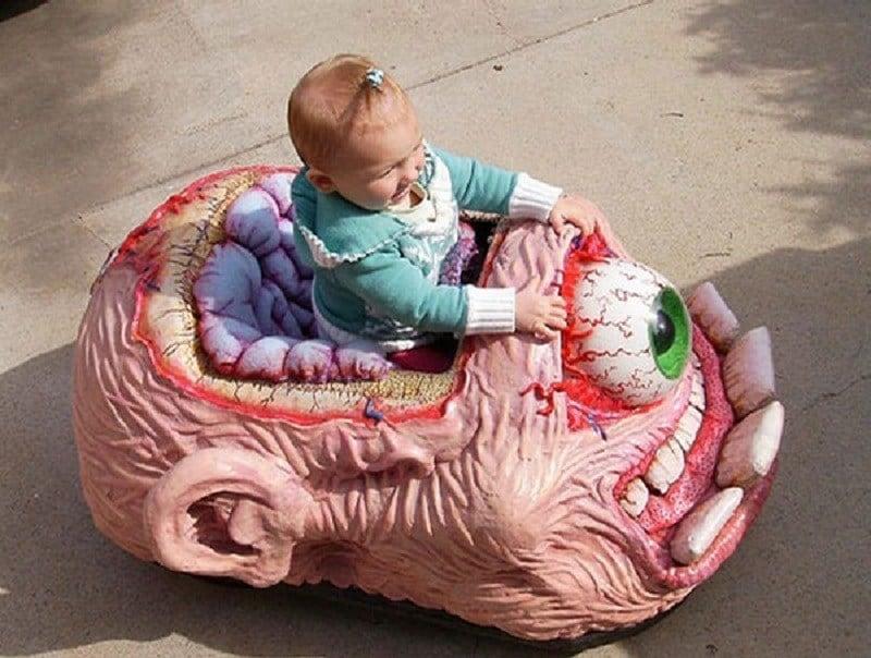Terrifying Eyeball Car for Kids
