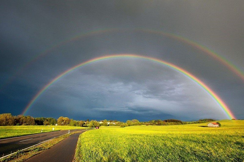 Beautiful Double Rainbow Craziest Weather