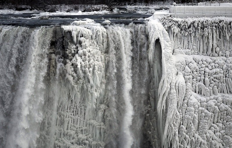 Niagara Falls Partially Frozen Craziest Weather