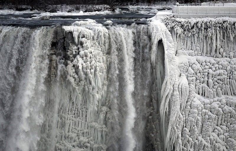 Niagara Falls Partially Frozen Craziest Weather