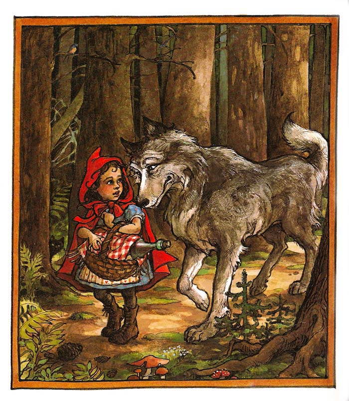 Grimm Fairy Tales Little Red Riding Hood The Disturbing ...