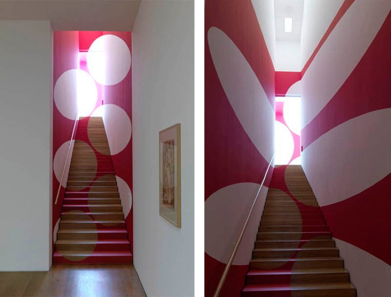 Felice Varini Stairway Circles