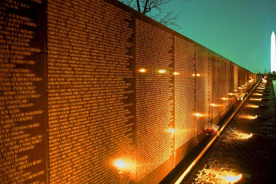 Vietnam Wall Night