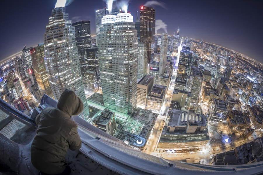Frozen Toronto Aerial