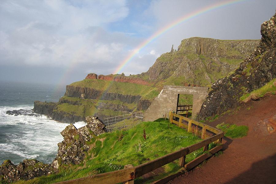 Rainbow Over Giants Causeway