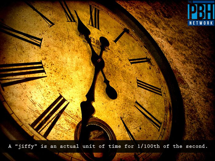 Jiffy Unit Of Time