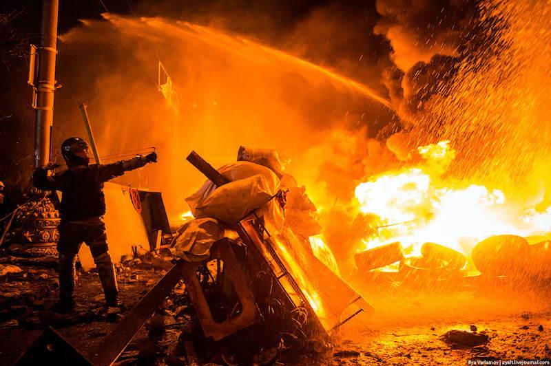 Kiev Revolution Fire
