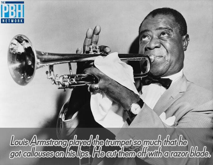 Louis Armstrong Lip Callouses