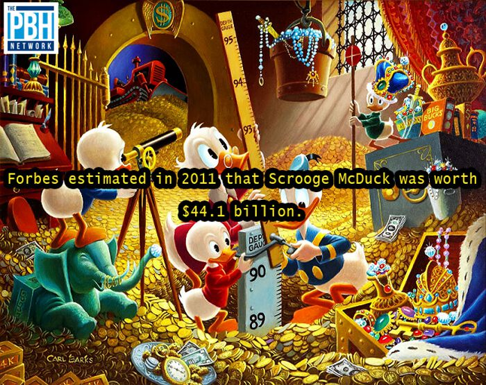 Scrooge McDuck's Net Worth