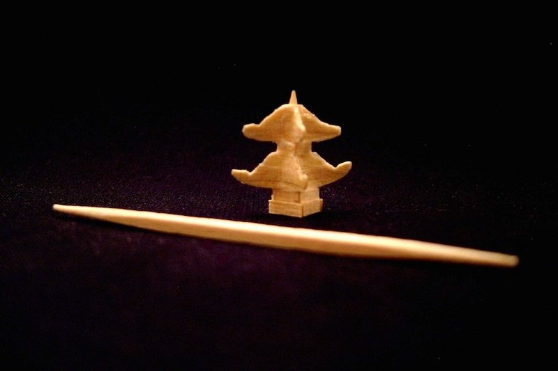 Tiny Toothpick Sculpture