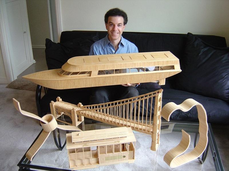 Steven Brackman with Toothpick Art