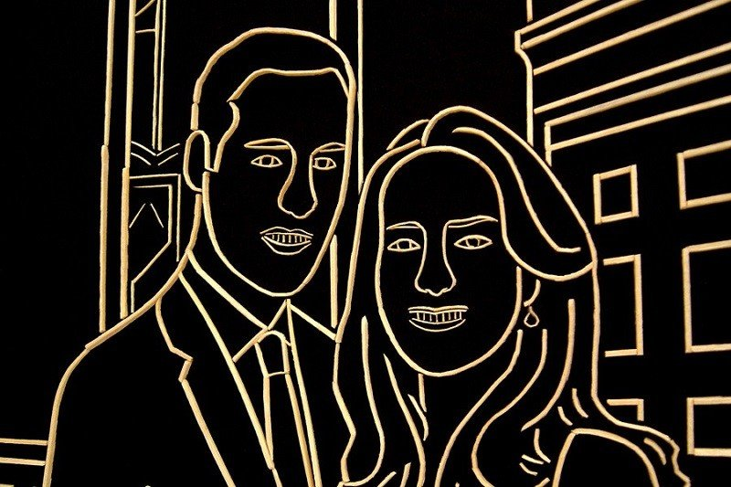 Happy Couple Toothpick Artwork
