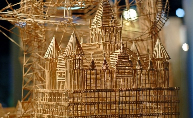 Artists Create Toothpick Art