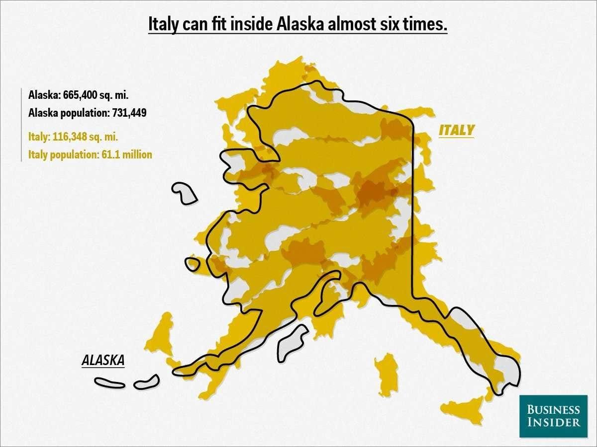 True Size Maps Italy
