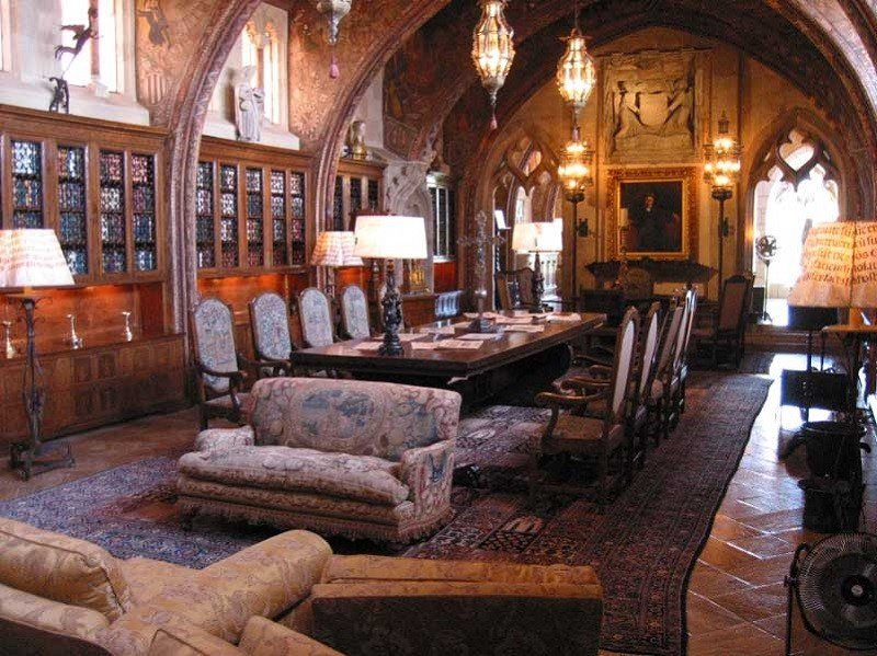 Interior of the Visually Stunning Homes Hearst Castle