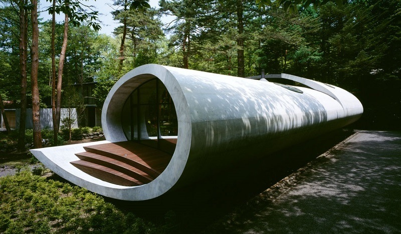 modern shell home in japan - Shell Homes