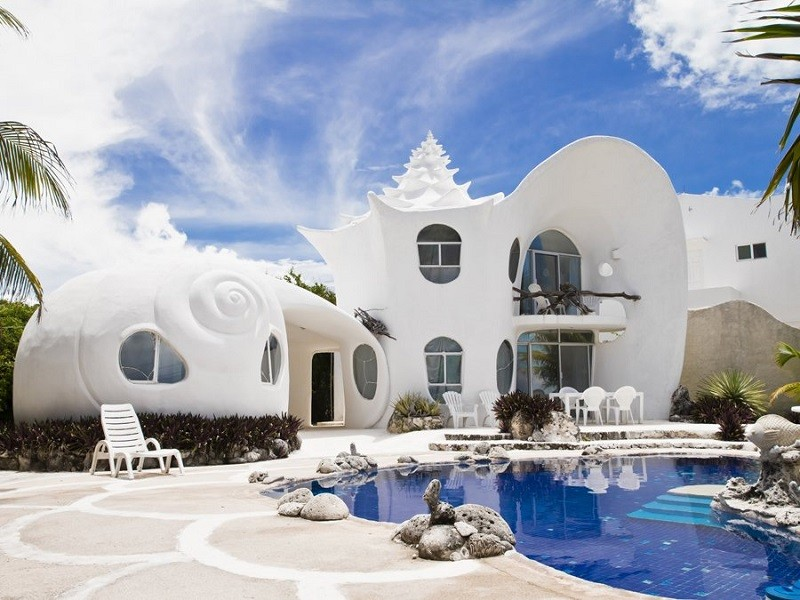 visually stunning homes shell house mexico - Shell Homes