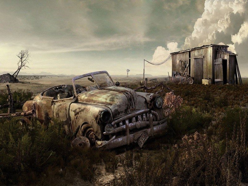 Antique Abandoned Car