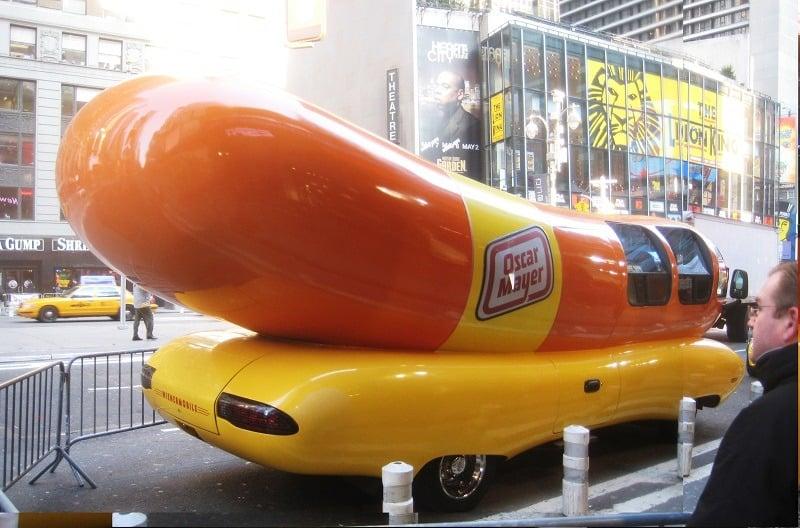 Funny Oscar Meyer Wiener Car