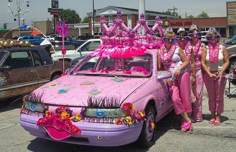 Colorful and Weird Princess Car